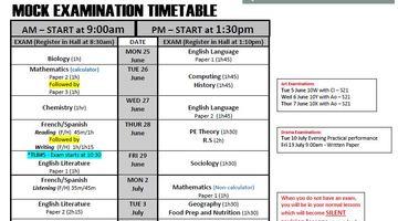 Y10 Summer 2018 ECS Exam Timetable