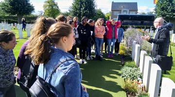 International Ambassadors and Year 13  visit Ypres
