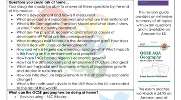 Y11 Geography Newsletter
