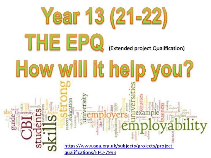 Year 12 EPQ Intro
